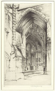 John Taylor Arms Etching Notre Dame $395.00