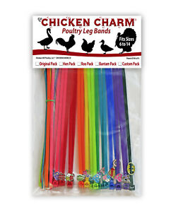 20 Chicken Charm ® Poultry Leg Bands Fits ChickensGeeseDucks