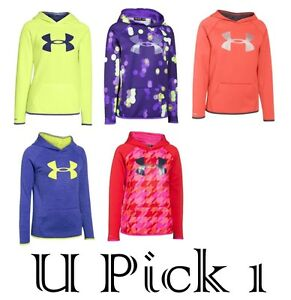 Under Armour Hoodie Girls Youth Teens Big UA Logo Sports Active Wear Coat Jacket