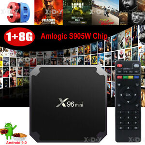 NEW Android 9.0 Pie Smart TV BOX Quad Core HDMI Media Player 4K Movies 2+16G 3D