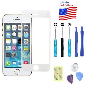 Replacement Front Screen Glass Lens+Repair Kit for iPhone SE55S 6 6s Plus AT