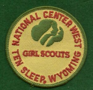 VINTAGE GIRL SCOUTS NATIONAL CENTER WEST TEN SLEEP WYOMING PATCH $44.95