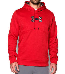 Under Armour UA ICON ArmourFleece® Realtree Xtra Camo Logo Red Heather Hoodie