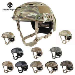 EMERSON Tacitcal FAST Helmet BJ Type Military Airsoft Headwear MC Black EM5659