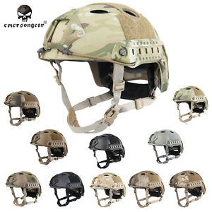 EMERSON Tacitcal FAST Helmet PJ Type Military Airsoft Headwear Black MC EM5668