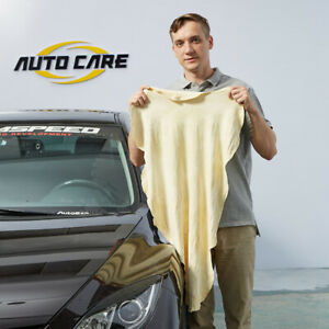 Autocare Natural Chamois Leather Car Cleaning Drying Cloth Absorbent Wash Towel