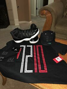 Nike Air Jordan Retro 11 (72-10) Size 14 With Matching T-Shirt Cap