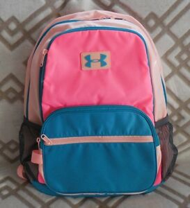 UNDER ARMOUR Girl's UA Backpack Great Escape Color Pink PunkCyanBlack NEW