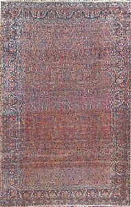 VERY FINE ANTIQUE SAROUGH PERSIAN RUG PURE WOOL 90 YEARS OLD 11x17 wWARM COLOR