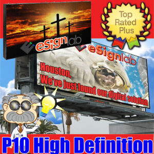 LED Full Color High Rez P10 Programmable Outdoor Screen 4.2ft x 8.4ft
