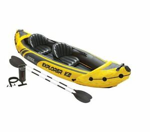 Inflatable Kayak 2 Person Accessories Intex Sporting Goods Water Rafting Outdoor