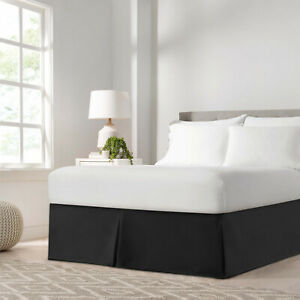 Luxury Hotel Quality Bedding Tailored Bed Skirts 14quot; Drop Full Queen King Size $13.99