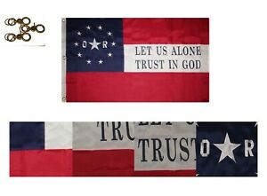3x5 Embroidered 6th Louisiana Orleans Rifles 600D Nylon Flag 3#x27;x5#x27; 3 Clips