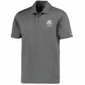 Under Armour Graphite 2016 Ryder Cup Logo Performance Polo