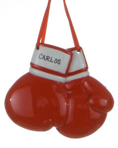 Boxing Gloves Personalized Christmas Tree Ornament