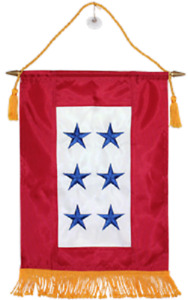 12x18 Embroidered 6 Six Star Blue Military Service Nylon Flag 12quot;x18quot; Banner