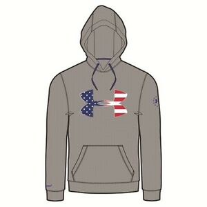 Under Armour 1276945 Men's Heather Gray BFL Armour Fleece Hoodie - Size 3X-Large