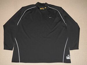 MLB Nike Fit Dry Pittsburgh Pirates Long Sleeve LS Shirts Mock Neck 3XL Black
