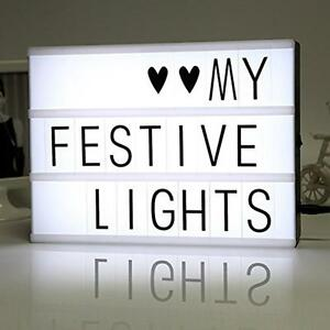 DIY Free Cinematic Light Box With Letters And LED Light A4 Size Luminous Box US