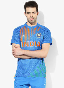 Nike Men India Cricket 100% polyester Dri-FIT Authentic Jersey CLOTHING EDH