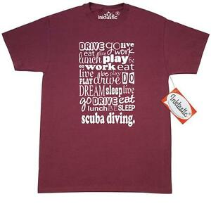 Inktastic Scuba Diver Gift T-Shirt Diving Funny For Humor Sports Hobbies Hobby