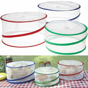 Set of 3 Pop Up Food Cover Mesh Screen Outdoor BBQ Picnic Camping Bug Protector