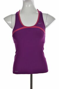 Nike Fit Dry Womens Purple Active Tank Top Sz S Sleeveless Color Block Shirt