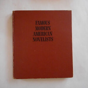 Famous Modern American Novelists By John CournosSinclair LewisA B Guthie amp;More $2.99