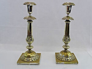 Silver Candlesticks Russian For Sale