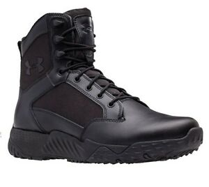 Under Armour 1289001 Men's Black Stellar Tac 2E Wide Leather Boots