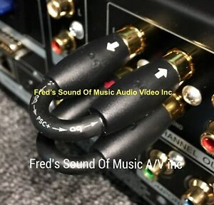 NEW Audioquest RCA Preamp Jumpers Stereo Cables Main Preamp Best Jumper Pair AQ $39.95