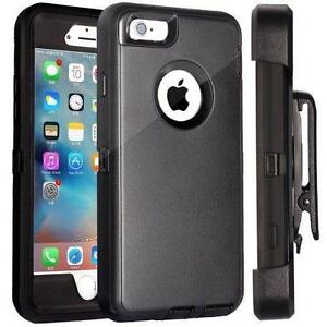 Defender Black Case With Belt Clip&Screen For iPhone X 5 6 6S 7 Plus XR XS Max