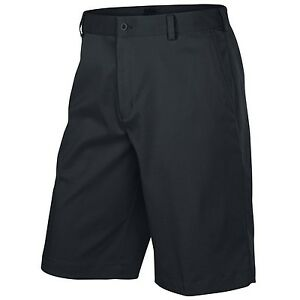 Nike Men's Flat Front Tech Golf Shorts - Black-34