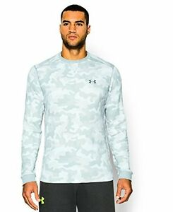 Under Armour 1266462-100 Mens UA Amplify Camo Thermal Crew  White