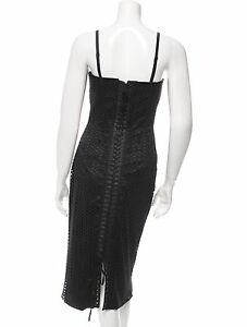 SUPER SEXY SOLD OUT NWT $5995 DOLCE & GABBANA BLACK LACEUP BUSTIER DRESS