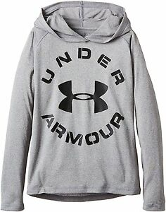 Under Armour 1264408 Boys UA Tech HoodieTrue Gray Heather- Choose SZColor.