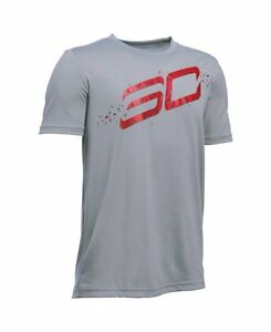 Under Armour Boys SC30 Player T-ShirtBig Kids Steel- Choose SZColor.