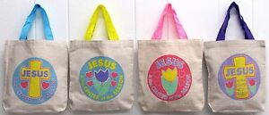 Jesus is the Center of the Season Religious Canvas Tote 8quot; Bag VBS Bible School