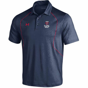 Under Armour Minnesota Twins Navy Apex Performance Polo