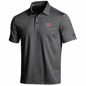 Under Armour Auburn Tigers BlackGray Kirkby Performance Polo