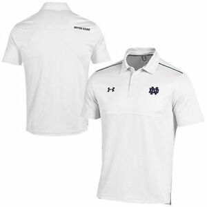 Under Armour Notre Dame Fighting Irish White Ultimate Sideline Performance Polo