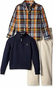 Nautica Childrens Apparel N430D68Q Little Boys Three Piece Set W Shirt