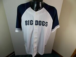 Big Dogs White Button Down Baseball Jersey Shirt Mens XL Made in USA