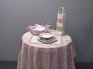 Pink Beautiful French table cloths set - 17 pieces