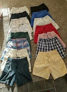 Lot of 15 Pairs Mens Golf Shorts.sz34 PoloPGA TourDockers and more.