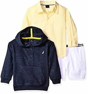 Nautica Childrens Apparel N130E33Q Boys Long Sleeve Button Down Shirt