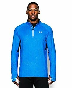 Under Armour 1265029 Mens UA Launch Run Printed188; Zip  BLUE JET