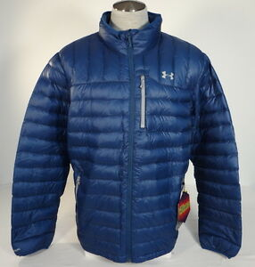 Under Armour Coldgear Storm Blue Infrared Down Blend Zip Front Jacket Mens NWT