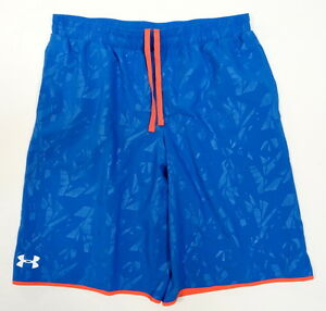 Under Armour Blue Woven Lacrosse Shorts Youth Boys Sizes NWT
