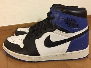 AIR JORDAN 1 X FRAGMENT blacksport royal-white sz 9.5